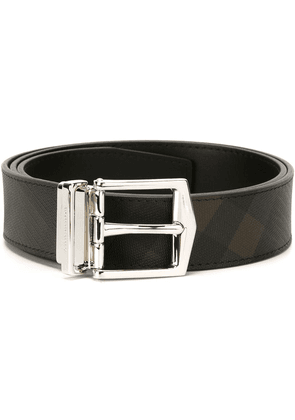 Burberry Reversible London Check and Leather Belt - Black