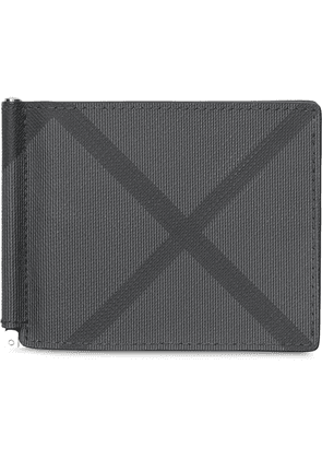 Burberry london check moneyclip wallet - Grey