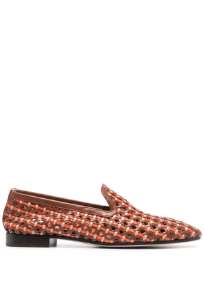 Fratelli Rossetti Brera woven leather loafers - Brown
