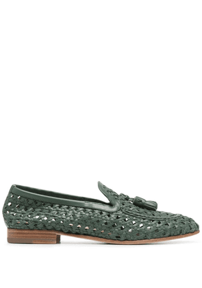 Fratelli Rossetti Brera woven leather loafers - Green
