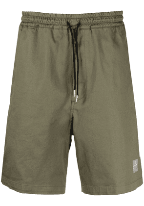 Department 5 logo patch track shorts - Green