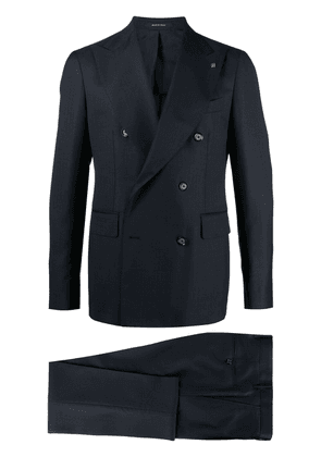 Tagliatore double-breasted wool suit - Blue