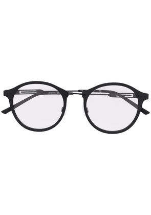 Calvin Klein matte finish round frame glasses - Black