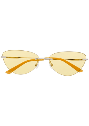Calvin Klein cat-eye frames sunglasses - Yellow
