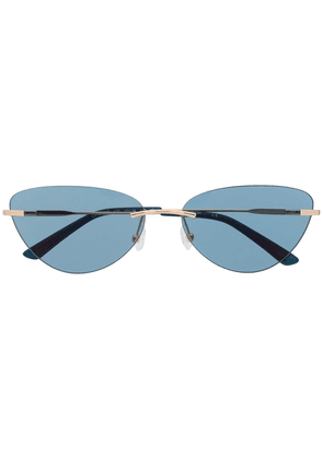 Calvin Klein cat-eye frame sunglasses - Gold