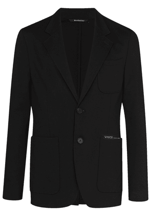 Givenchy unstructured single-breasted blazer - Black