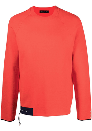 Falke asymmetric-hem long-sleeve jumper - Orange