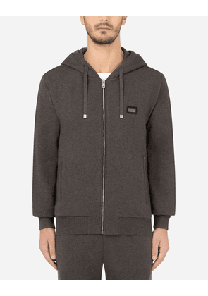 Dolce & Gabbana Collection - Cotton jersey hoodie GREY male 44