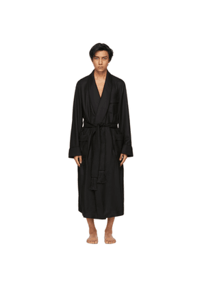 TOM FORD Black Cashmere Twill Robe