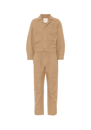 Willa cotton and linen twill jumpsuit