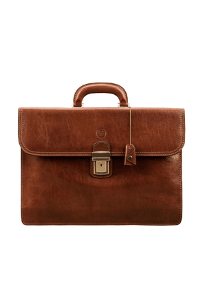 Maxwell Scott Bags Quality Mens Tan Brown Leather Briefcase For Men