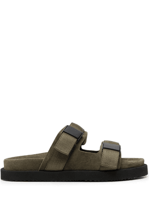 Buttero double strap suede sandals - Green