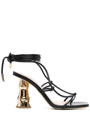 Gia Couture Eolo strappy leather sandals - Black