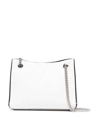Calvin Klein Jeans logo-print shoulder bag - White