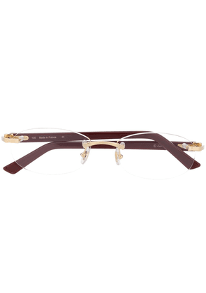Cartier Eyewear rimless oval optical glasses - Red