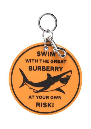 Burberry shark-print keyring - Orange