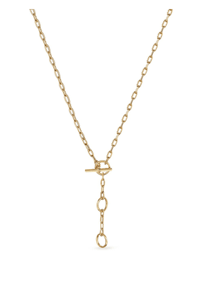 David Yurman 18kt yellow gold 3-ring chain necklace