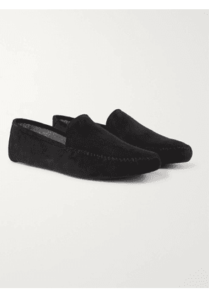 LORO PIANA - Maurice Cashmere-Lined Suede Slippers - Men - Gray - EU 44