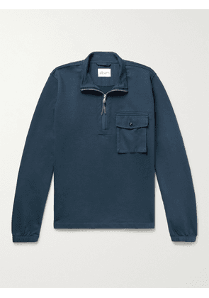 Albam - Tactical Loopback Cotton-Jersey Half-Zip Sweatshirt - Men - Blue - XS