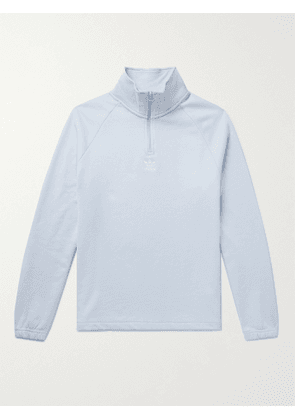 ADIDAS ORIGINALS - Adicolor Classics Logo-Embroidered Loopback Cotton-Jersey Half-Zip Sweatshirt - Men - Blue - S