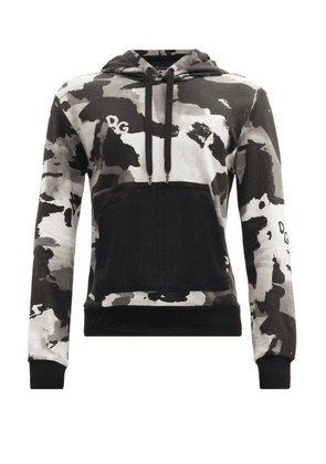 Dolce & Gabbana - Camouflage-print Cotton-blend Hooded Sweatshirt - Mens - Grey Multi