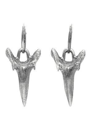 Chin Teo Silver Shark Tooth Earrings