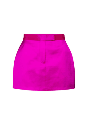 Jacks high-rise satin miniskirt