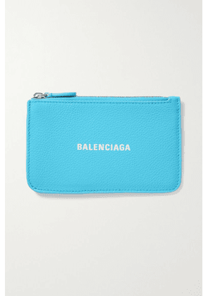Balenciaga - Cash Printed Textured-leather Wallet - Blue