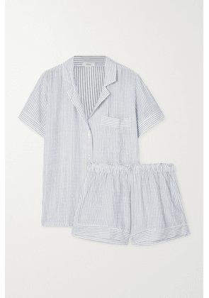 Eberjey - Nautico Striped Cotton-blend Pajama Set - Blue