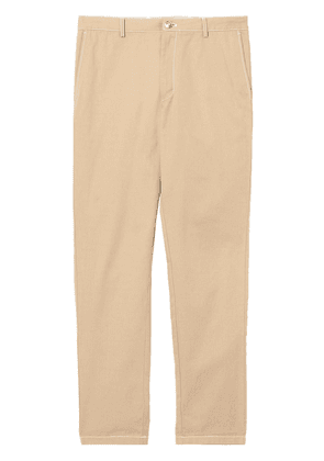 Burberry slim fit topstitch detail chinos - Neutrals