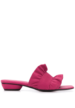 Dorateymur ruched square-toe sandals - Pink