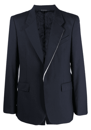 Givenchy contrasting trim jacket - Blue