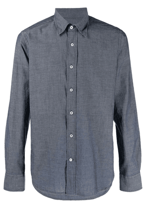 Canali button-down fitted shirt - Blue