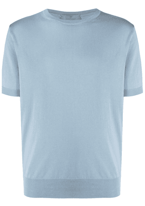 Canali crew-neck fitted T-shirt - Blue