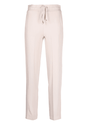 Blumarine drawstring slim-fit trousers - Neutrals