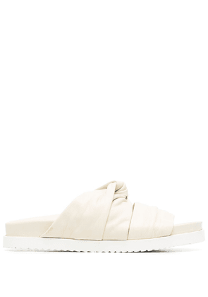 3.1 Phillip Lim twisted band flat slides - White