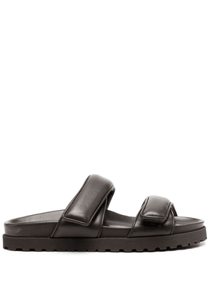 Gia Couture touch-strap leather sandals - Brown