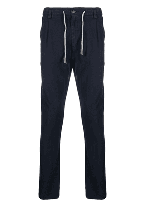 Eleventy mid-rise slim-fit trousers - Blue