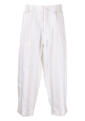 Costumein cropped drawstring trousers - Neutrals