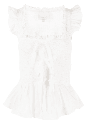 Cinq A Sept flared Dorothy top - White