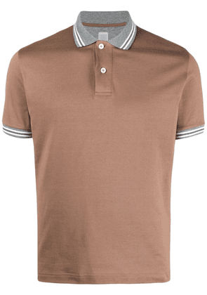 Eleventy short-sleeved cotton polo shirt - Brown