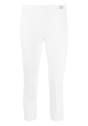 Blumarine side-slit trousers - White