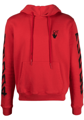 Off-White Arrows-print logo hoodie - Red