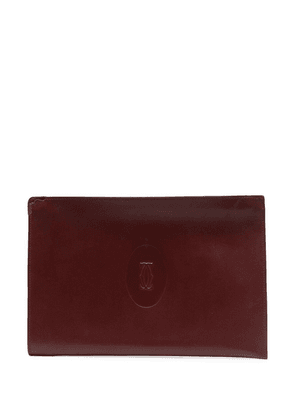 Cartier pre-owned embossed logo clutch - Red