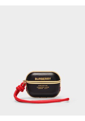 Burberry Airpod Cs Case in Black Leather