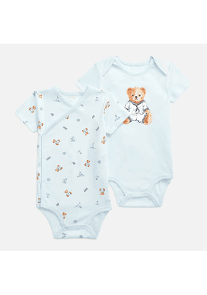 Polo Ralph Lauren Boys' Printed 2 Piece Bodysuit - White Multi - 3 Months