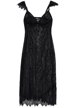 Cosabella Satin-trimmed Lace Chemise Woman Black Size S