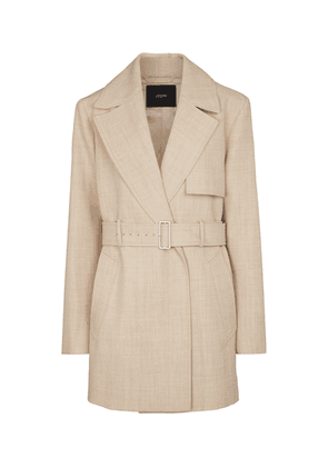 Chasy belted wool twill jacket