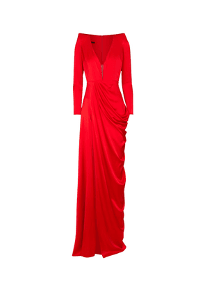 Bentley stretch-silk satin gown
