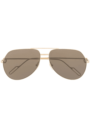 Cartier Eyewear logo tinted aviator sunglasses - Gold